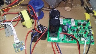 Thử nghiêm tự chế bộ tăng áp 12V ắc quy lên 30V đối xứng chạy để chế loa kéo