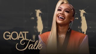 YouTube動画:Saweetie Names GOAT Rapper, Food & Movie | GOAT TALK with Complex