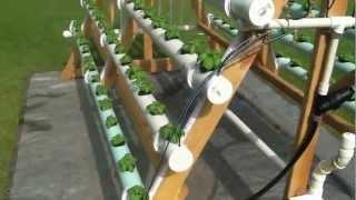 Homemade Vertical (a-frame) Hydroponic System  Facebook Https://www.facebook.com/greenerways