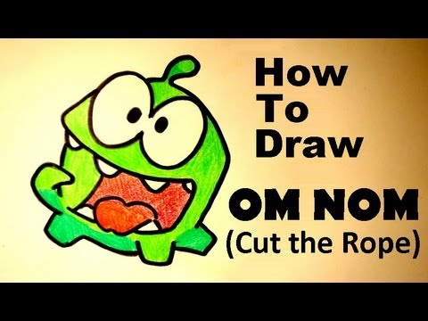 How To Draw Om Nom Cut The Rope Hd Youtube