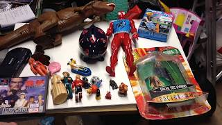 Car boot sale haul 1/4/18 featuring Spider-Man, transformers, Terrahawks, PlayStation  + more