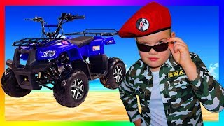 Yura Pretend Play with New Mini BIKE Unboxing and Ride on Bike for Kids