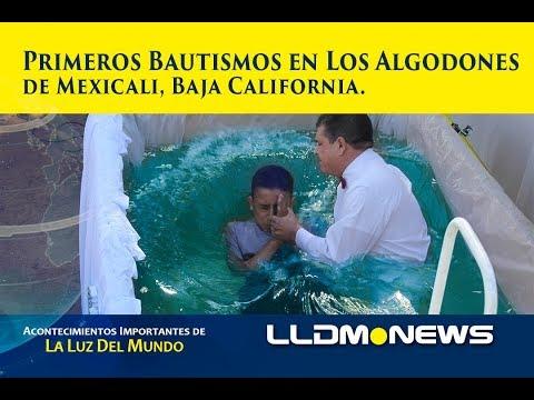 Primeros bautismos en el Ejido Los Algodones de Mexicali B.C.