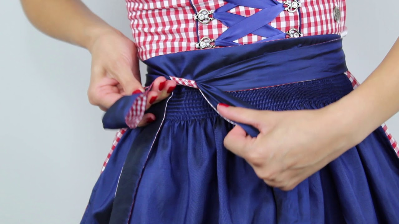 Dirndl Schleife Binden Youtube
