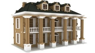 Southern Mansion Doll House Laser Cut Pattern Or Plans Cnc