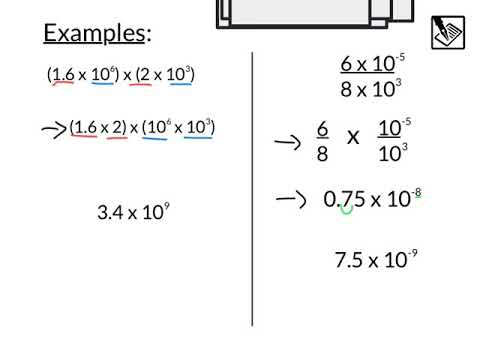Operations With Scientific Notation - YouTube