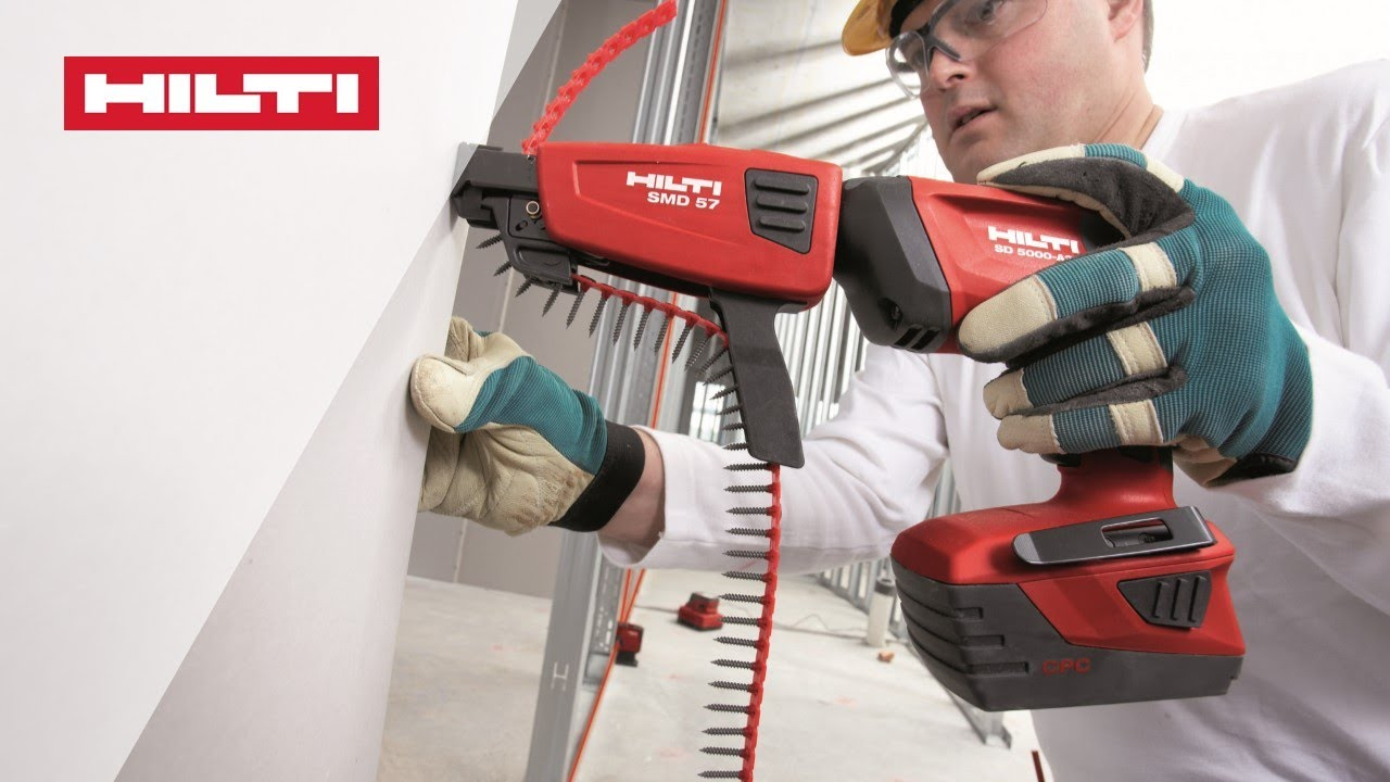 DEMO of the Hilti SD 5000-A22 cordless drywall srewdriver