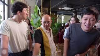 Trấn Thành & Trường Giang liên tục cà khịa Ngô Kiến Huy khi đi khai trương Color Man Coffee