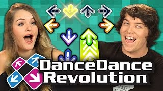 Adults Play Dance Dance Revolution (Adults React: Retro Gaming)