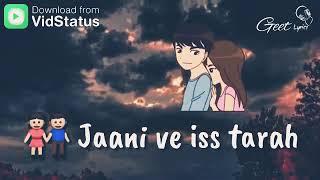 """Kaun hoyega punjabi song by b praak//ammy virk//janni//sargun mehta""""whatsaap status"""