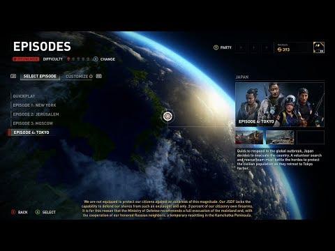 World War Z Episode 4 Tokyo Full Campaign Xbox One X