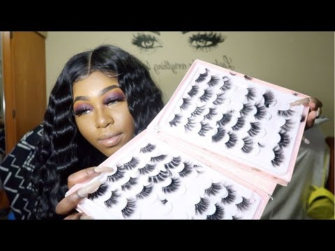 25mm LASHES FROM ALIEXPRESS TRY ON ON SMALL EYES (I was shocked)