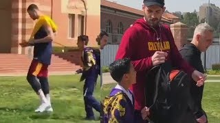 Larry Nance Jr Ignores Kid Asking For His Autograph Then Kevin Love Gives Him an Autograph!