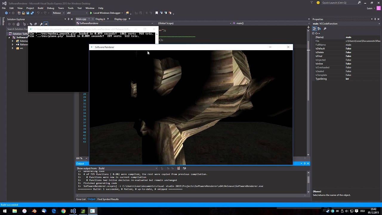C++ 3D Software Rasterizer - YouTube