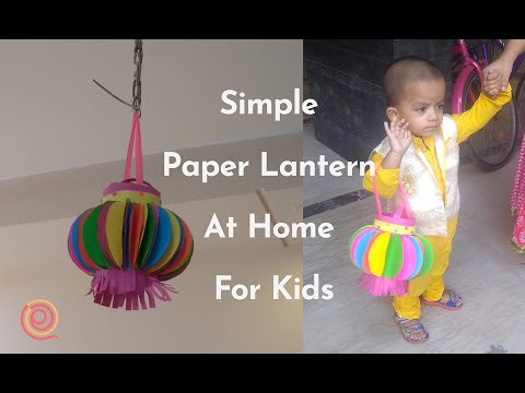 Akash Kandil for Kids School (simple Lantern by paper) | (not Quilling) | PQP #39
