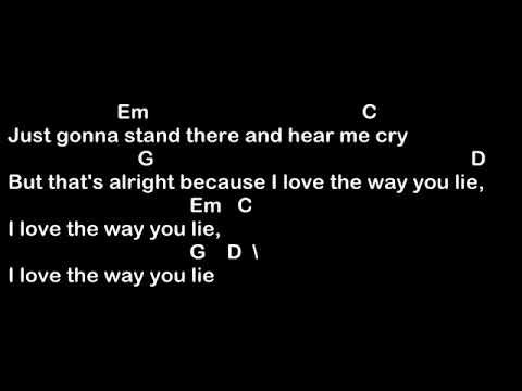 Love The Way You Lie - Eminem fta [Lyrics And Chords] Guitar Tutorial
