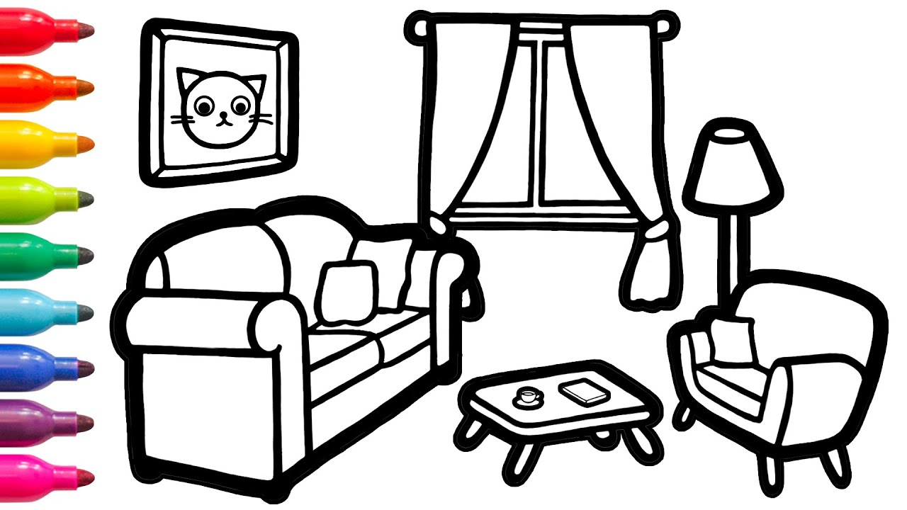 Download Teach How to Draw a Lounge With a Pet Easy For Kids #21