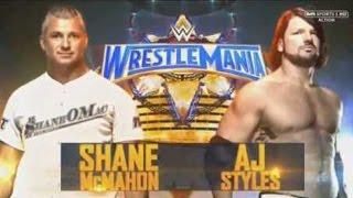 wwe wrestlemania 33 shane mcmahon vs aj styles