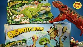 GIGANTOSAURUS VS T-REX!! Huge Box New Dinosaur Adventure Toys #withme Vs Jurassic World Dino Toys