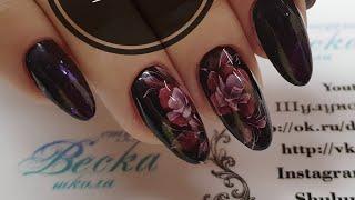Дизайн ногтей на руках клиента  Витражи в дизайне ногтей  Витражные гель лаки