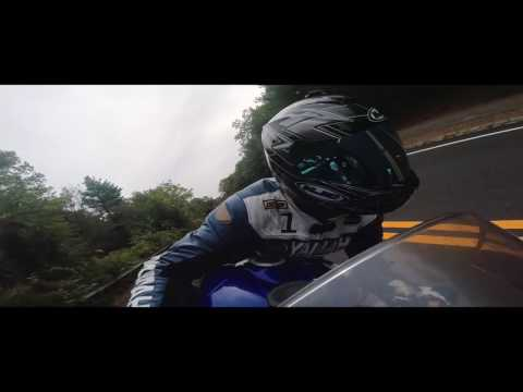 Riding the R6 at Blue Hills Reservation