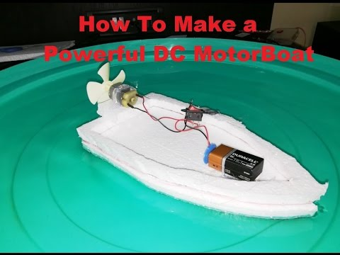 How to make an Electric Motor Boat using Thermocol and DC motor at Home thumbnail