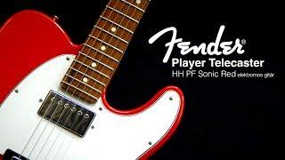 Fender Player Telecaster HH PF Sonic Red elektromos gitár