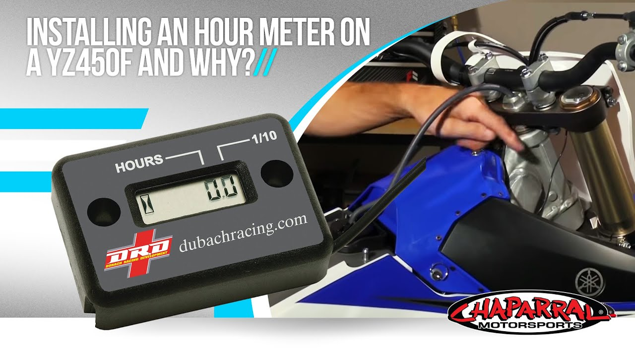 ChapMoto com Pro Works Episode 4: Installing an Hour Meter on a YZ450F and  Why?
