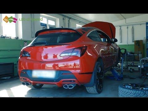 Красная Opel Astra J 1.4 турбо на стенде, или не гарантийный случай