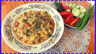 Тушеная капуста с фаршем и помидорами в кастрюле. Рецепт сытного второго блюда из фарша с капустой