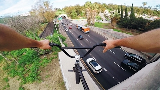FULL SPEED BMX HILL BOMB OVER LA!
