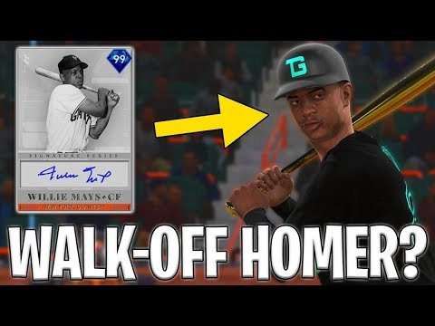 WILLIE MAYS DEBUT AND HE HITS A WALK OFF HOME RUN?! MLB The Show 19 Diamond Dynasty