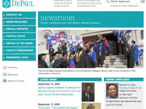 DePaul University Department of Public Relations & Communications Video Montage