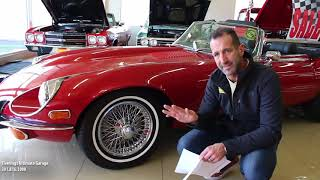 '74 Jaguar E-Type V12 Roadster for sale with test drive, driving sounds, and walk through video