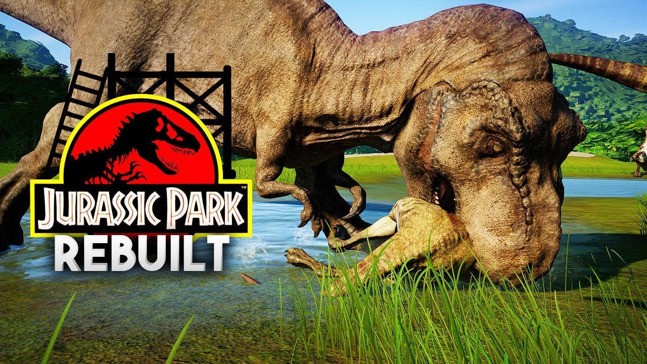 LOOK HOW IT EATS... | Jurassic Park 1993 Rebuilt (Jurassic World: Evolution)