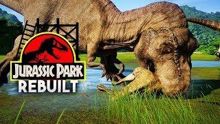 LOOK HOW IT EATS... | Jurassic Park 1993 Rebuilt (Jurassic World: Evolution)