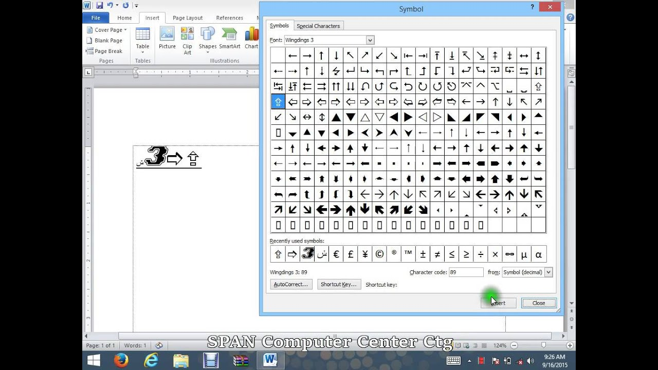 how to make symbols in microsoft word