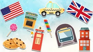 American VS British English - Learning Vocabulary - Videos For Kids And Toddlers