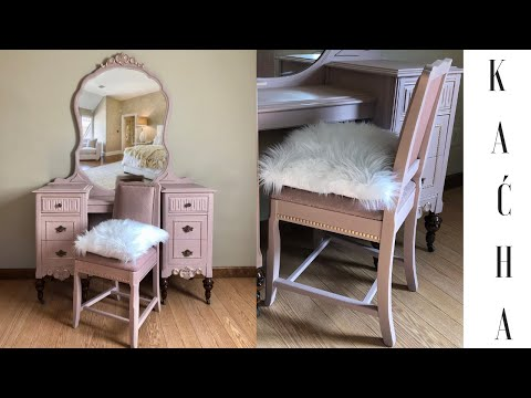 DIY Vanity Makeover w Chalk Paint