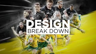 Rugby World Cup Final design (Photoshop process break down)