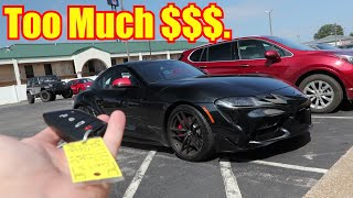 How Much over MSRP I Paid for my Toyota Supra