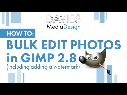 GIMP Tutorial 2015: How to Batch Edit Photos and Add Watermark