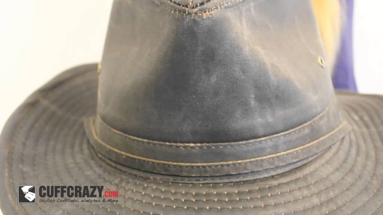 Dorfman Pacific Brown Weathered Outback Cowboy Hat w  Chin Cord - YouTube 93e69a26b93