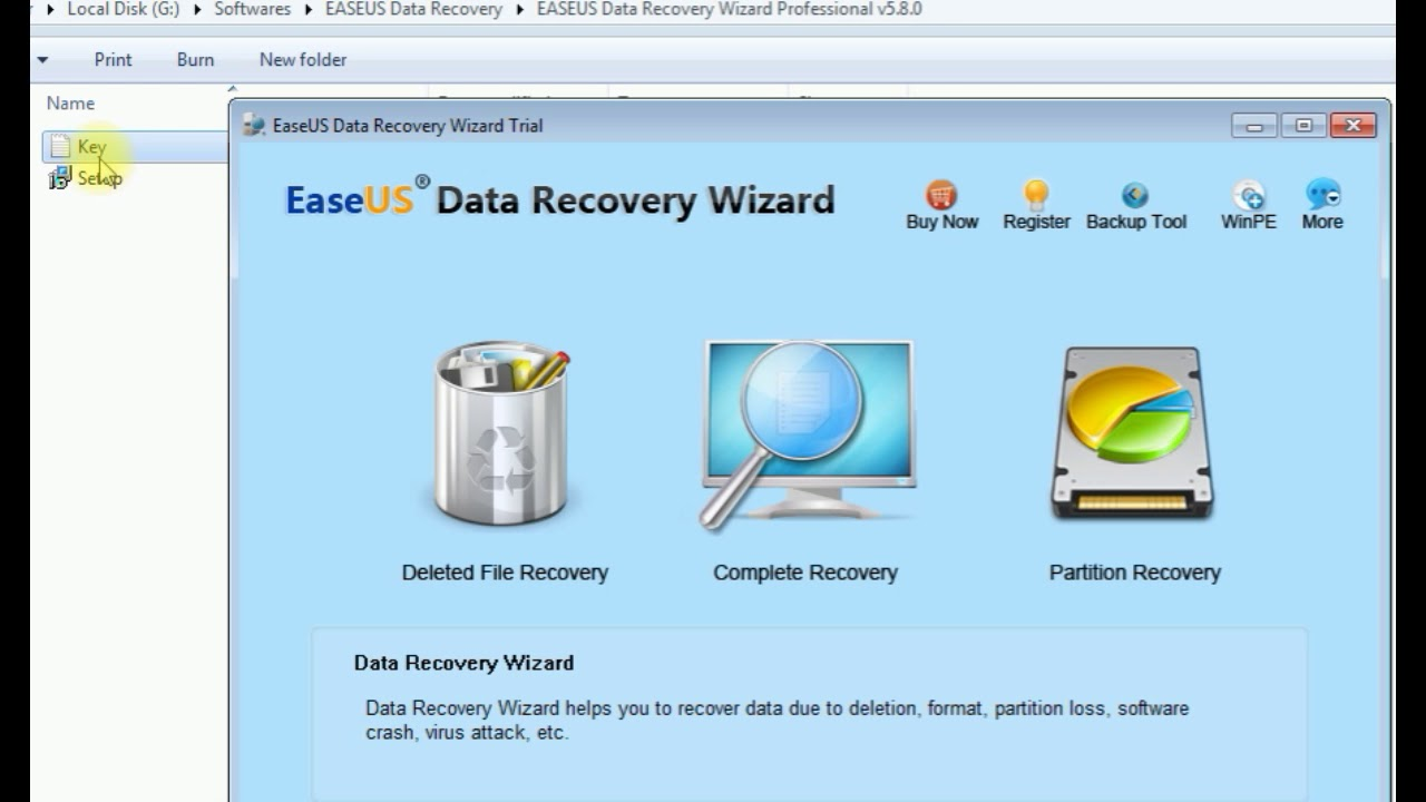 Easeus Data Recovery Wizard Pro v5 8 0 + Free Key Lifetime ...