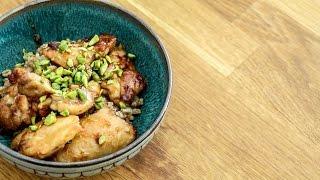 Snabb och billig middag - kyckling, typ asiatisk