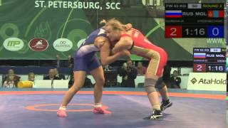 КМ 2015  Россия Монголия  до 53 кг  Мария Гурова   Сумия Эрденечимег