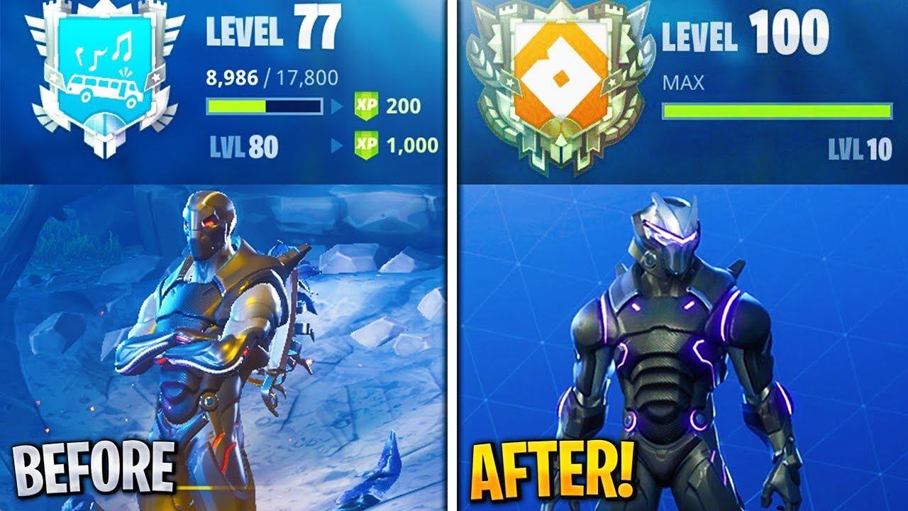 secrets to unlock max omega before the season ends level up fast fortnite fortnite level up fast - fortnite season 4 xp per level