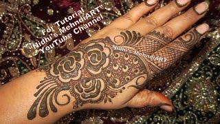 NEW DIY Gulf Dubai Style Henna Mehndi Designs for Hands Tutorial for EID 2017