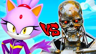 Blaze the Cat Vs Terminator Army - Epic Battle - Left 4 dead 2 Gameplay (L4D2 Custom Skin Mod)