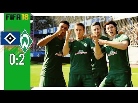 Hamburger SV Vs SV Werder Bremen 0:2 | FIFA 18 : All Goals And Highlights | Montage #3